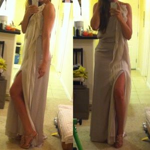 NEW BCBG Gown with side slit